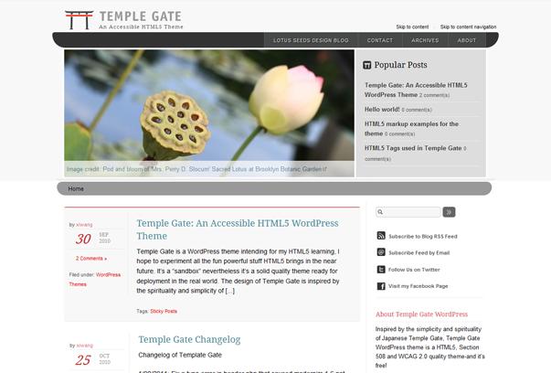 Безкоштовні HTML5 WP теми