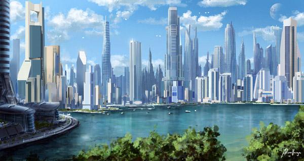 Ілюстрації: міста майбутнього